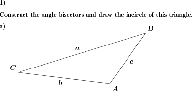 Triangle draw incircle