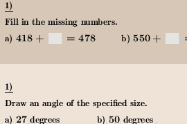 Select problems for worksheet