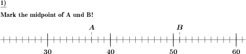Number line find midpoint