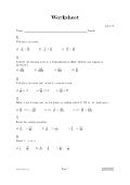 Image of a worksheet